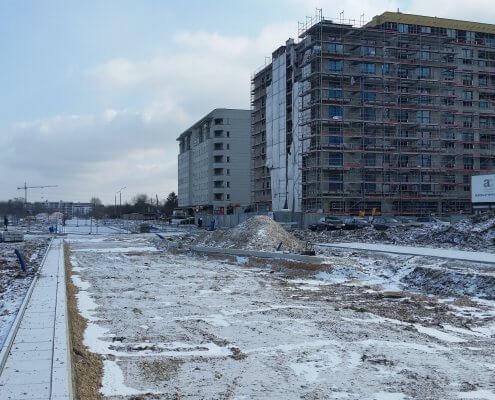 zdjęcie placu budowy osiedla ocena oddziaływania na srodowisko