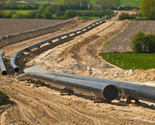 zdjęcie budowa rurociągu inwentaryzacja przyrodnicza